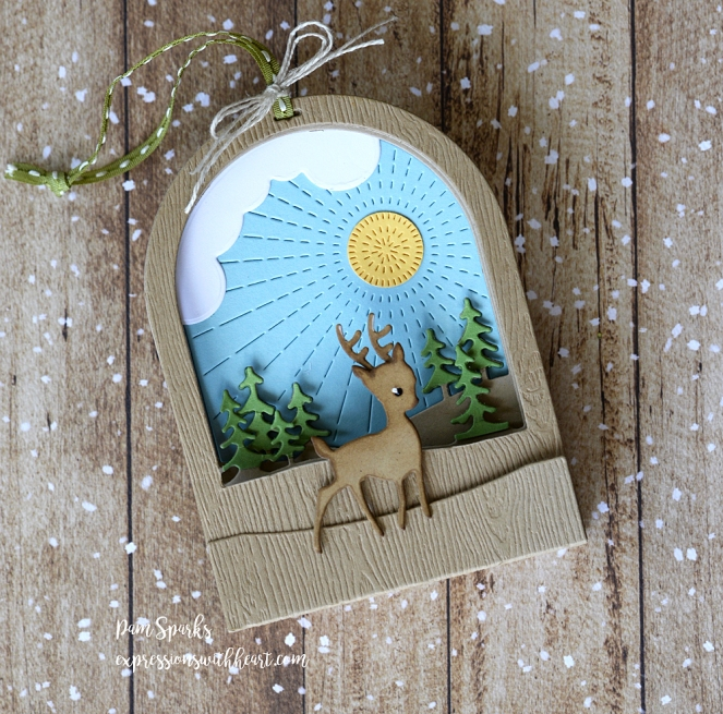Memory Box Snowglobe Backer, Radiant Snowglobe and Cabin Snowglobe…