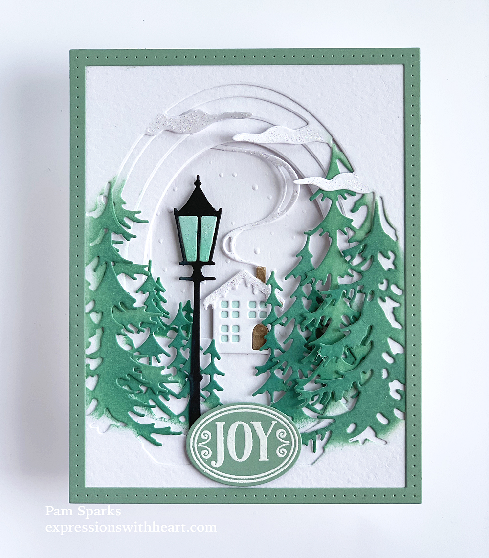 94502 Tall Fir Collage craft die