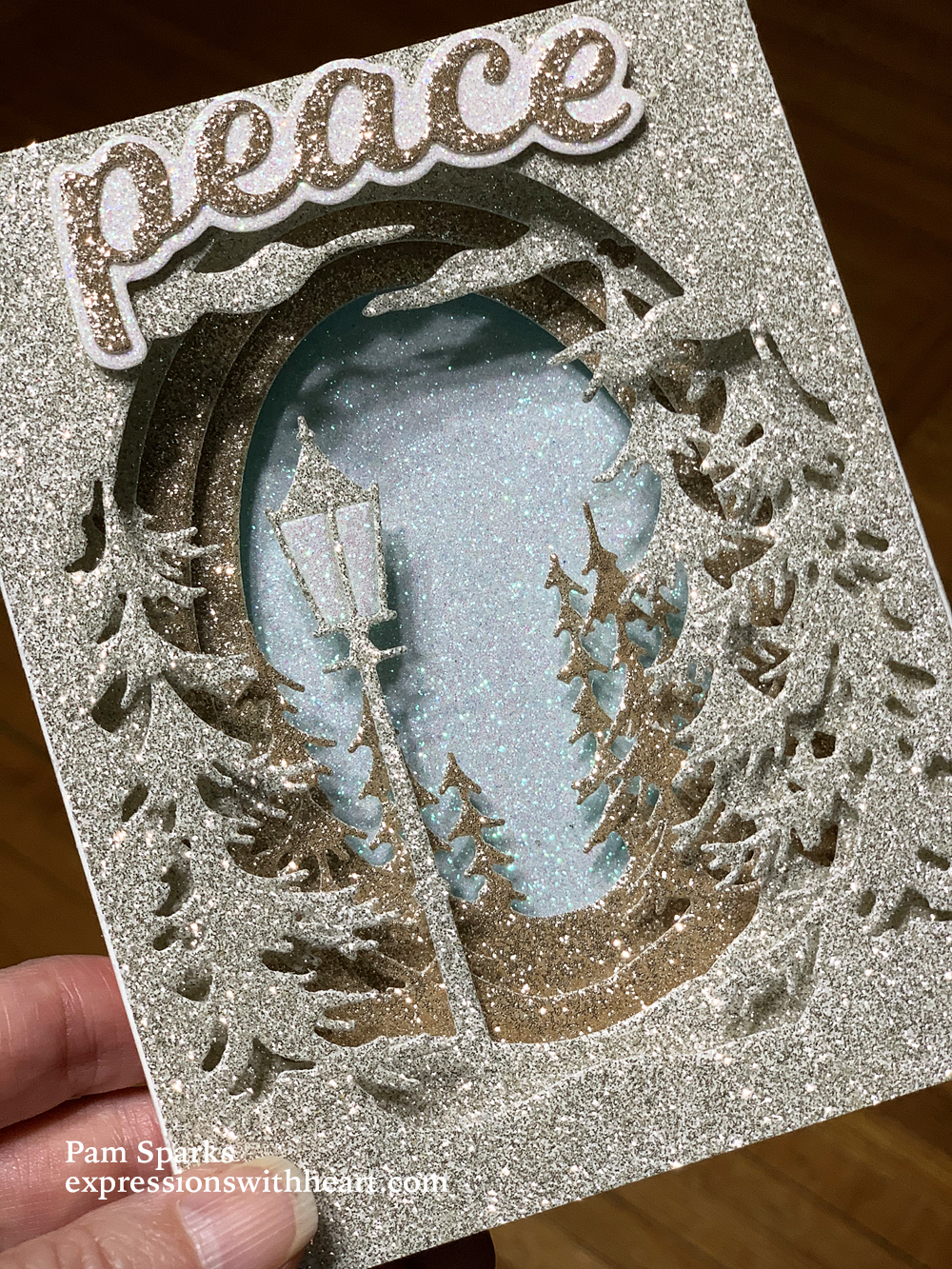Memory Box Evergreen Sky, Lamplight Tree, Small Pine Tree and Tall Fir  Collage Tunnel Card and Video…