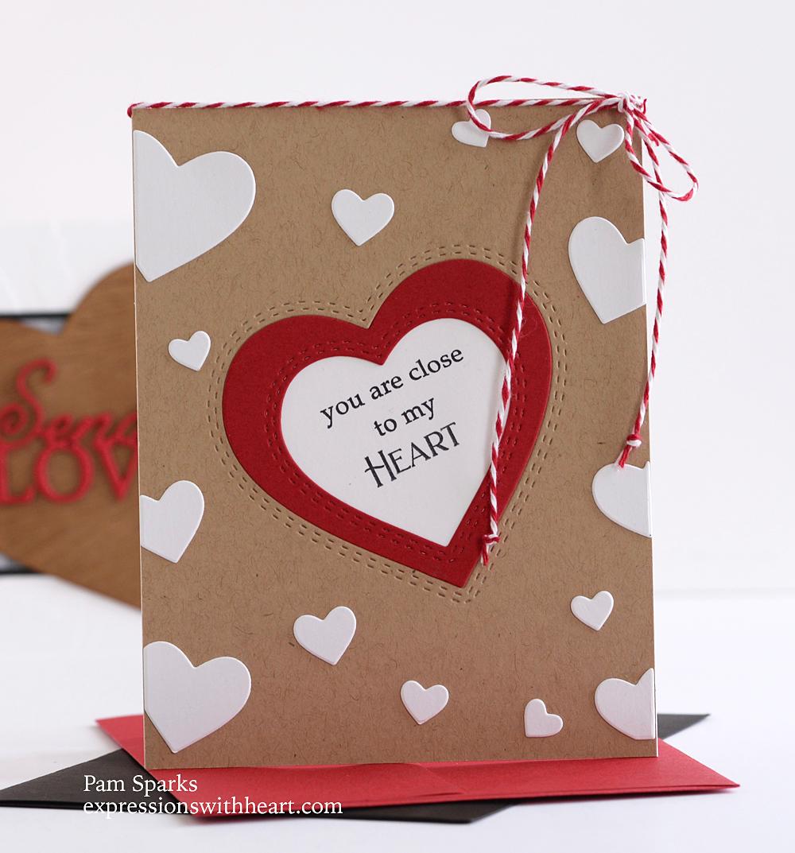 94548 Sprinkle Heart Collage craft die