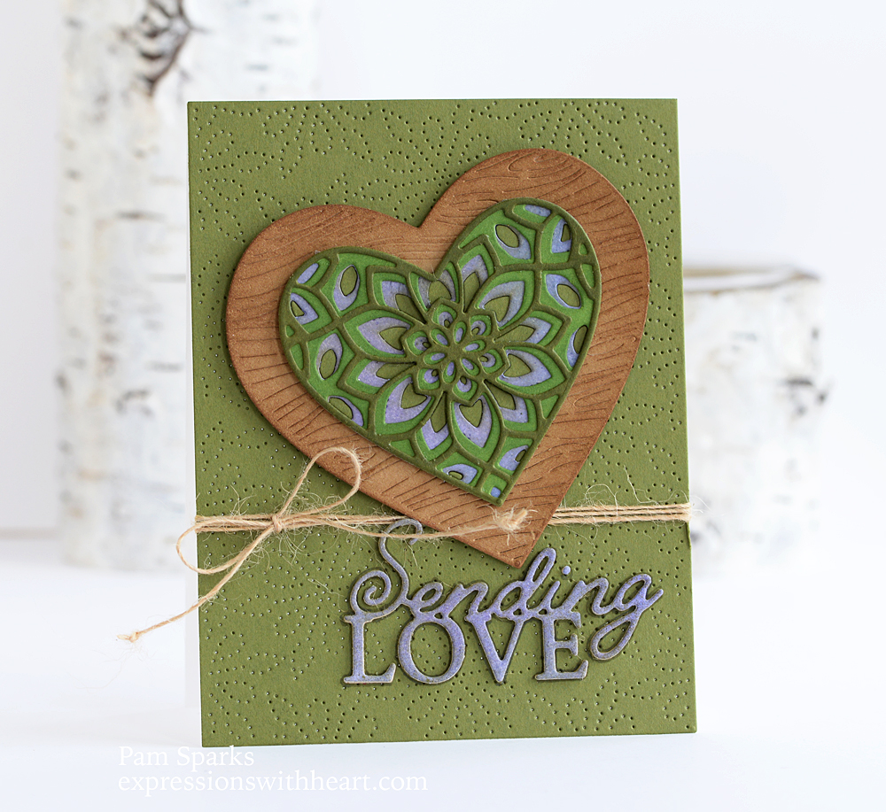 94552 Woodgrain Heart craft die