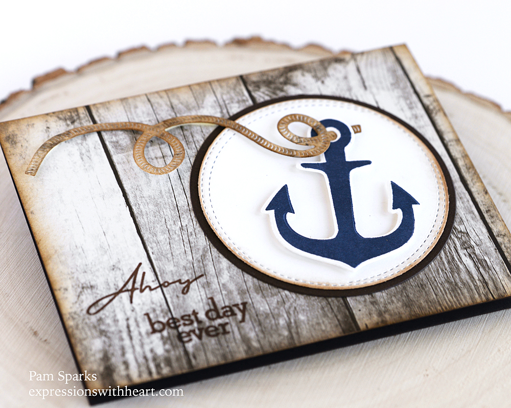 CL5269D You Anchor Me clear stamp and die set